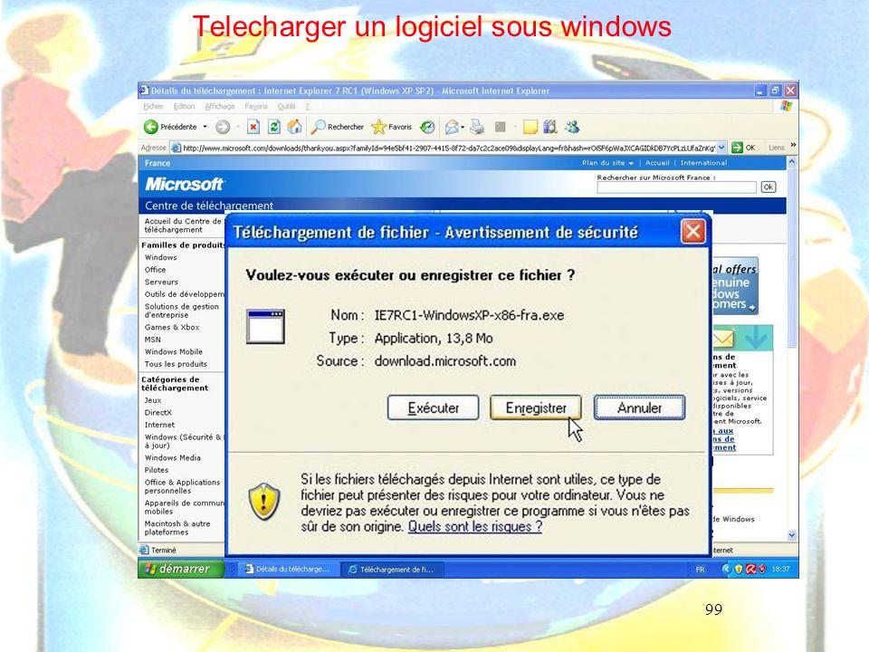 99 Telecharger un logiciel sous windows