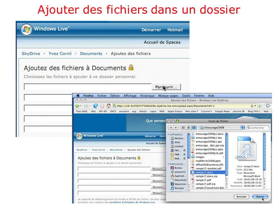 Ajouter des fichiers dans un dossier