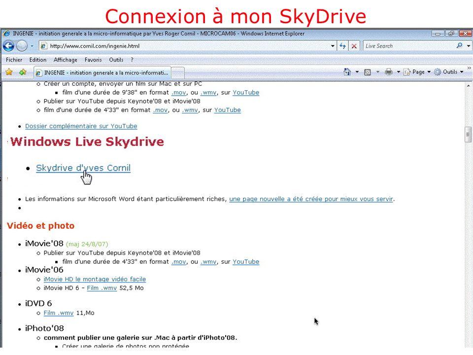 Connexion à mon SkyDrive