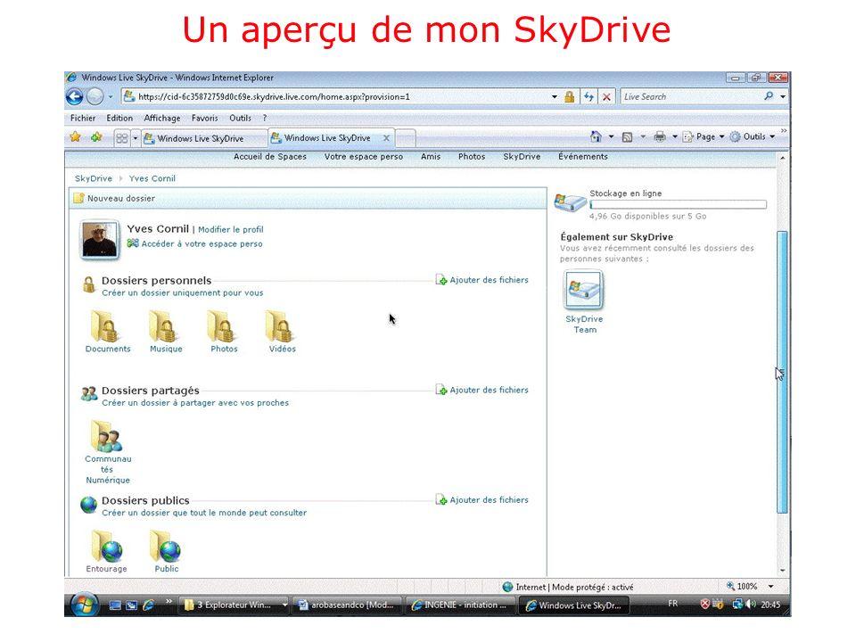 Un aperçu de mon SkyDrive