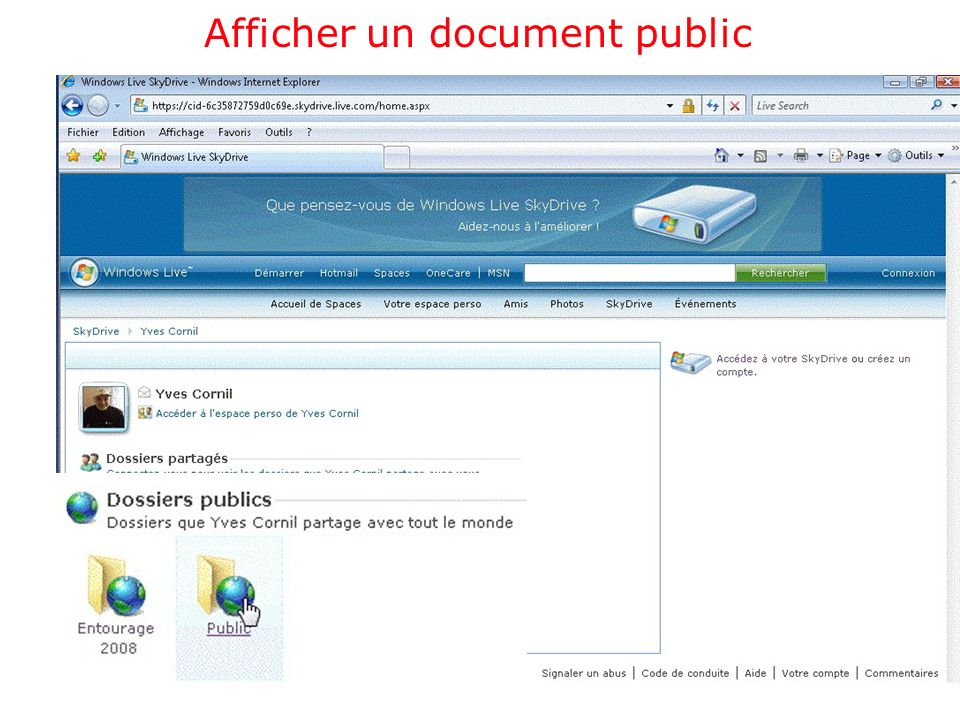 Afficher un document public