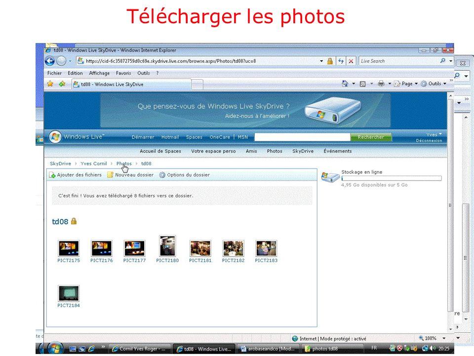 Télécharger les photos