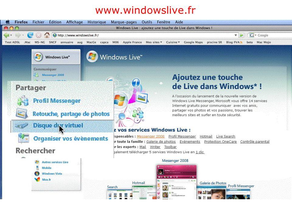 Créer un SkyDrive Pour créer Windows Live ID et un blog, reportez-vous à: http://www.cornil.com/ingenie.html#blog