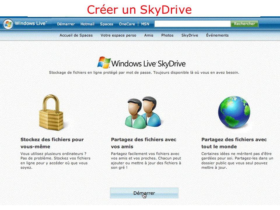 Créer un SkyDrive