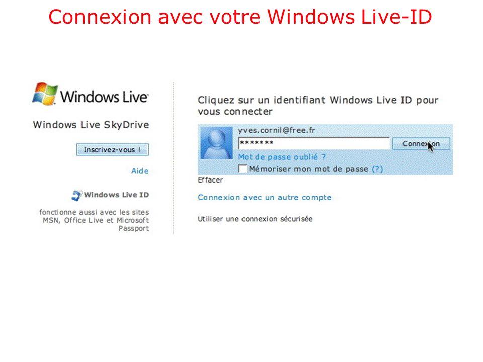 Connexion avec votre Windows Live-ID