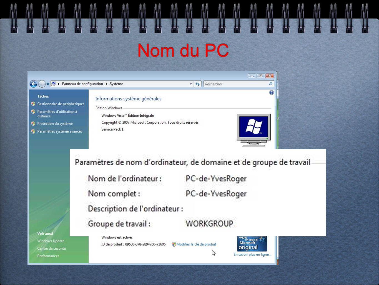 Nom du PC