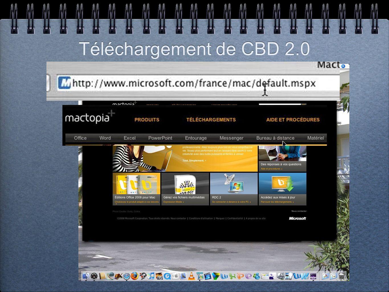 Téléchargement de CBD 2.0