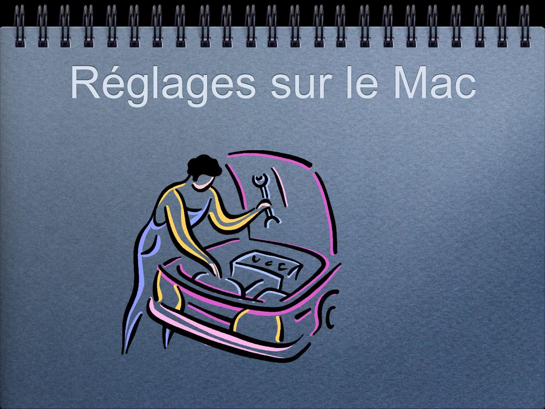 Réglages sur le Mac