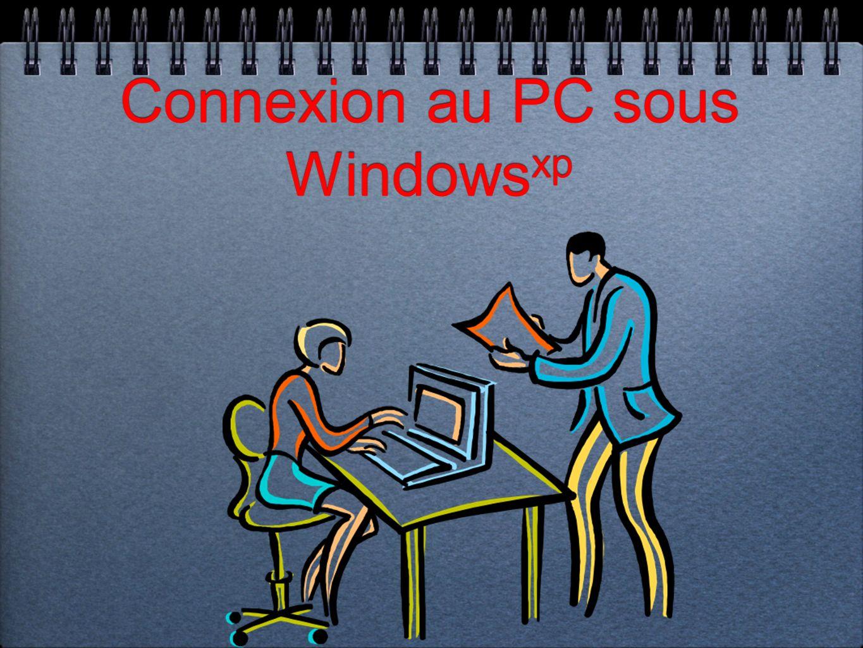 Connexion au PC sous Windows xp