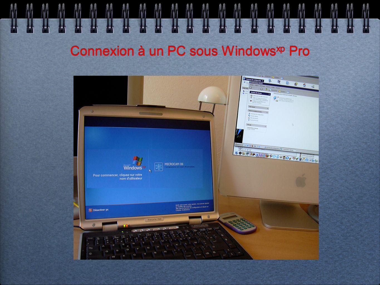 Connexion à un PC sous Windows xp Pro