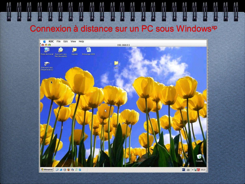 Connexion à distance sur un PC sous Windows xp