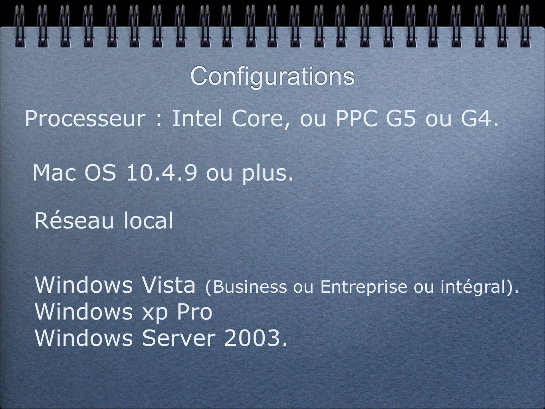 Réglages sur le Mac - Lancer un programme sur le PC