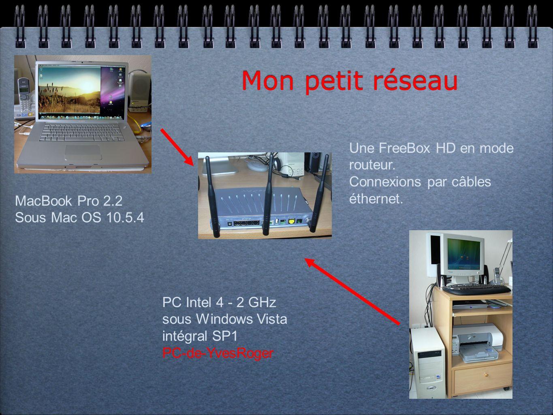 Mon ancien petit réseau Ordinateur: Imac-de-yves OS : Mac OS 10.4.10 FreeBox HD Ordinateur: Microcam Utilisateur: Microcam 06 OS : Windows xp Pro