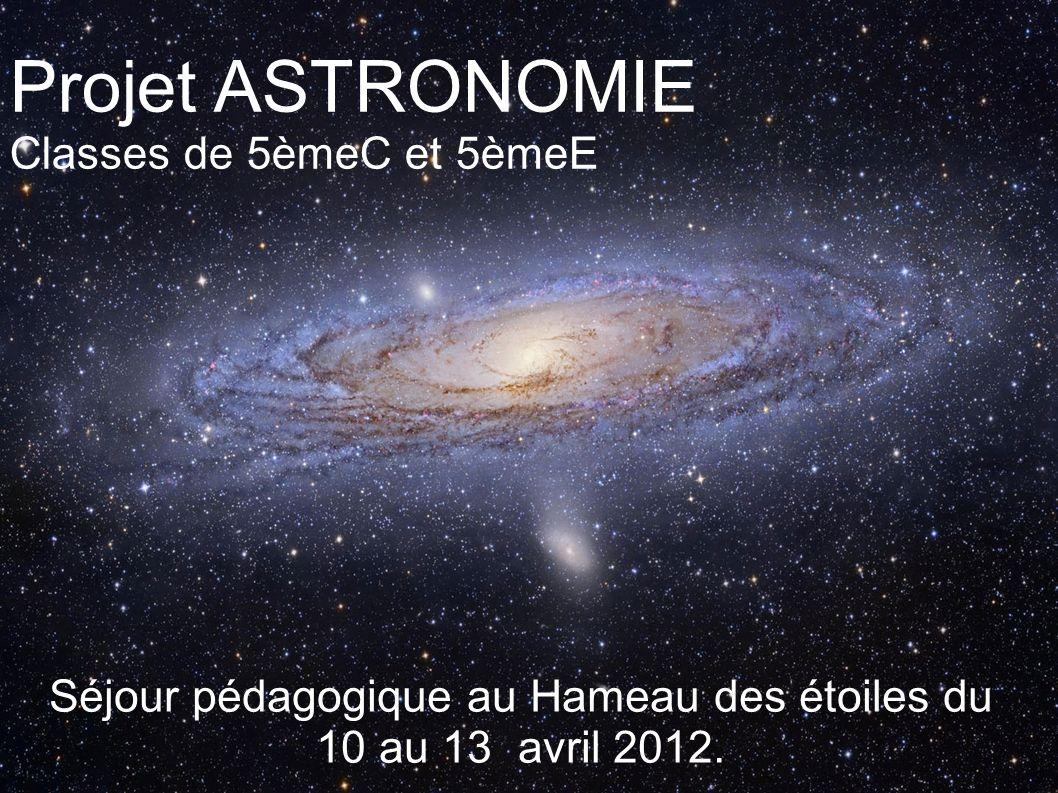 Séjour pédagogique au Hameau des étoiles du 10 au 13 avril 2012.