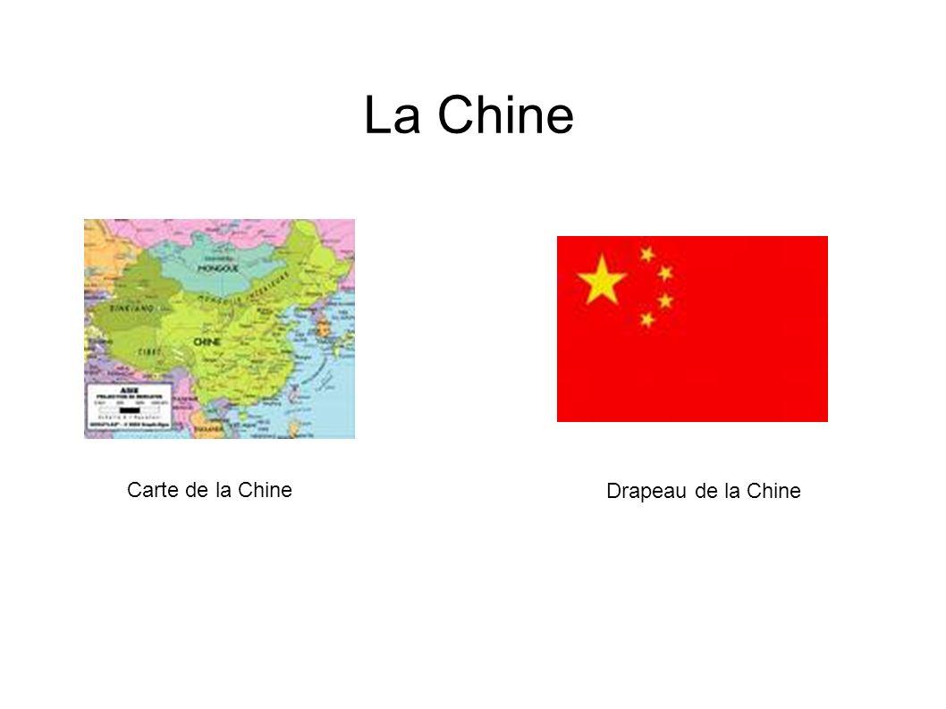 La Chine Drapeau de la Chine Carte de la Chine