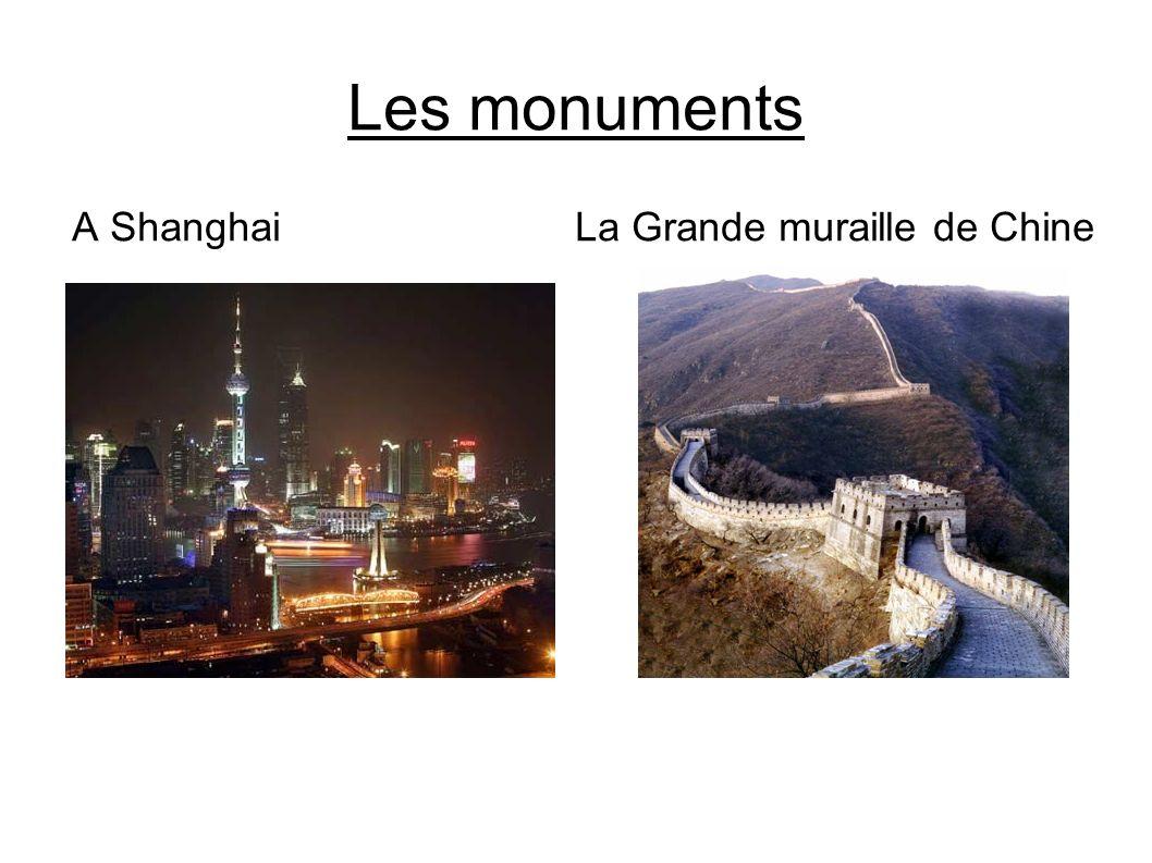 Les monuments A Shanghai La Grande muraille de Chine