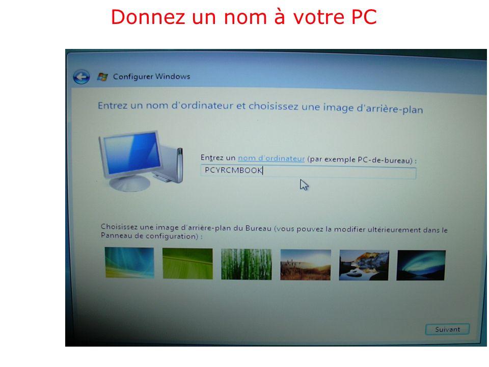 Donnez un nom à votre PC