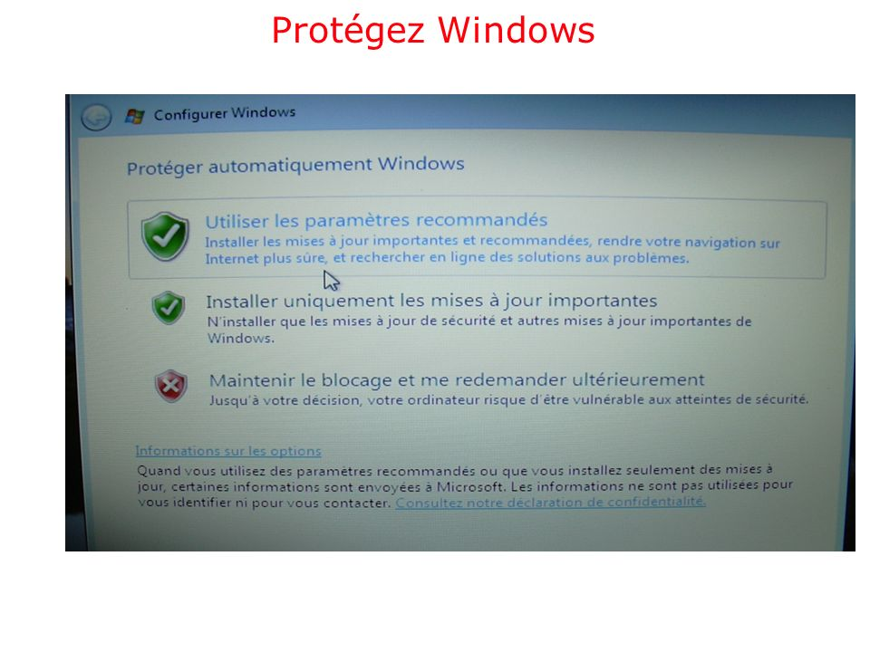Protégez Windows