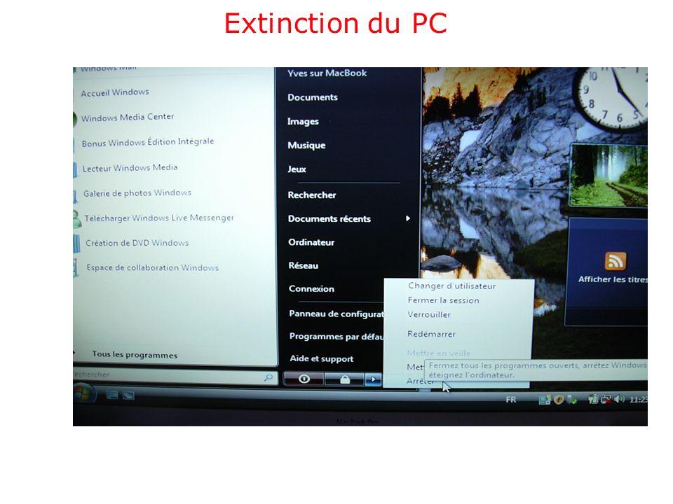 Extinction du PC