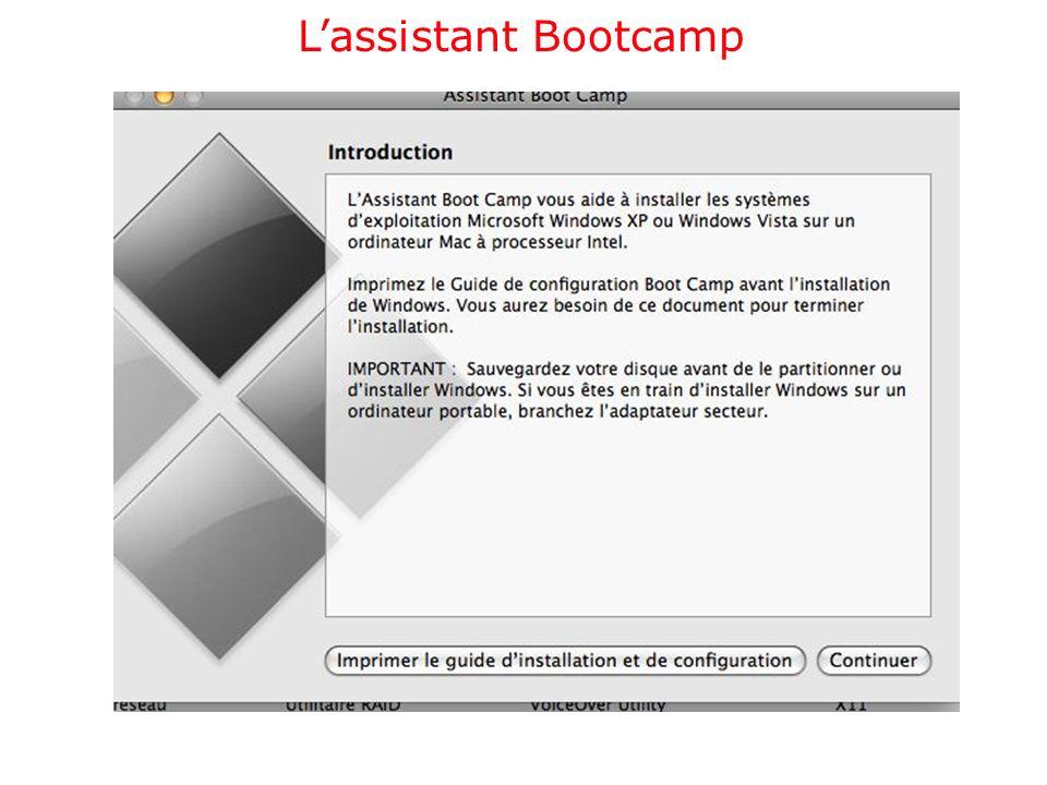 Installation de Windows Vista sur le Mac
