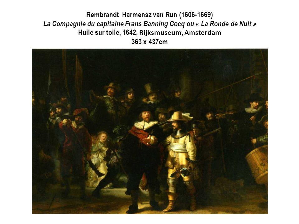 Rembrandt Harmensz van Run (1606-1669) La Compagnie du capitaine Frans Banning Cocq ou « La Ronde de Nuit » Huile sur toile, 1642, Rijksmuseum, Amster