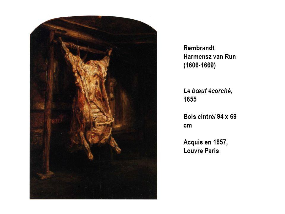 Rembrandt Harmensz van Run (1606-1669) Le bœuf écorché, 1655 Bois cintré/ 94 x 69 cm Acquis en 1857, Louvre Paris