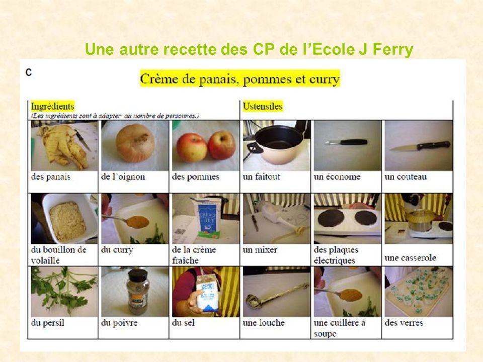 Une autre recette des CP de lEcole J Ferry