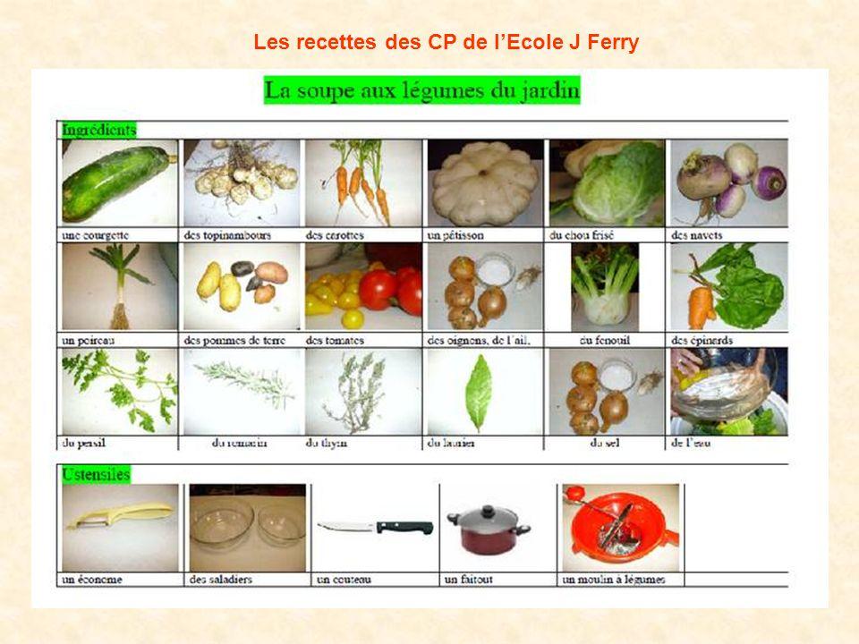 Les recettes des CP de lEcole J Ferry