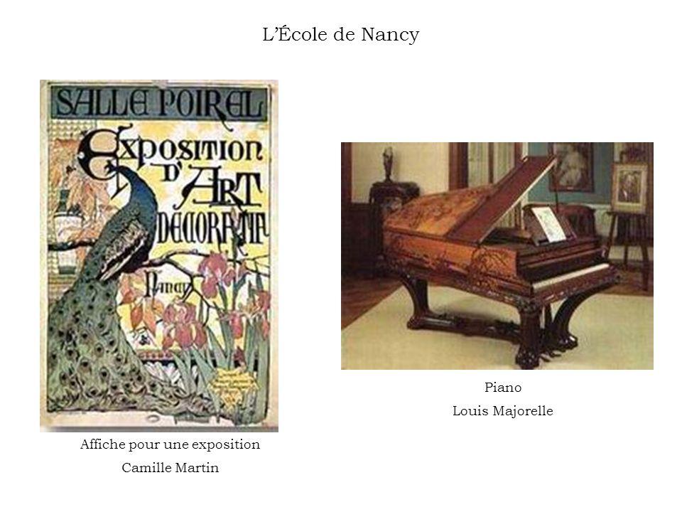 LÉcole de Nancy Affiche pour une exposition Camille Martin Piano Louis Majorelle