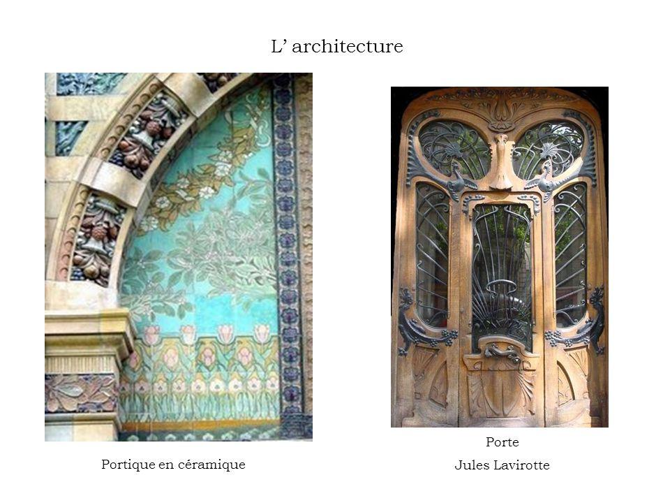 L architecture Portique en céramique Porte Jules Lavirotte
