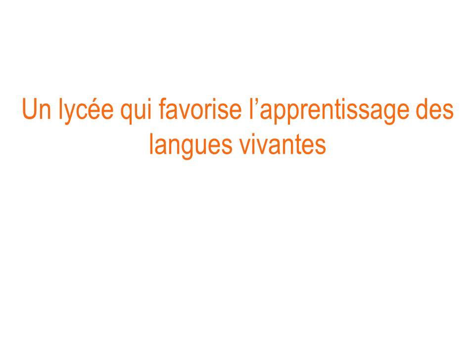 Un lycée qui favorise lapprentissage des langues vivantes