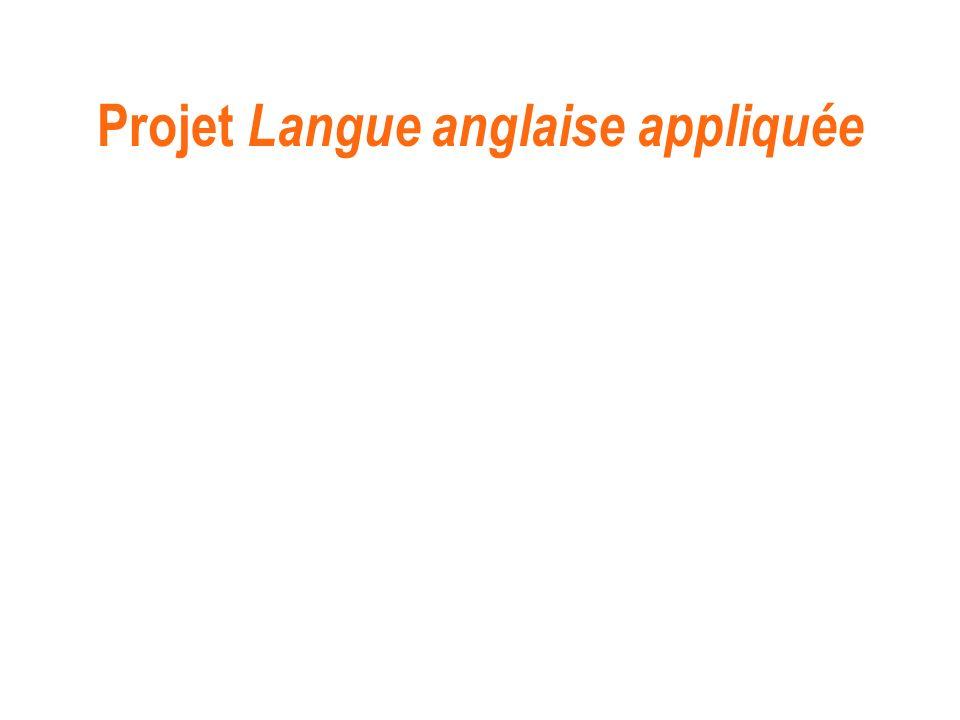 Projet Langue anglaise appliquée