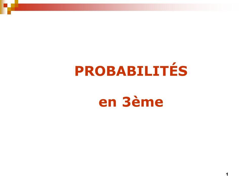 12 De lexpérience à la simulation(1) Lancer effectif de dés : Lexploitation des résultats permet de réinvestir ce qui a été vu en statistique descriptive.