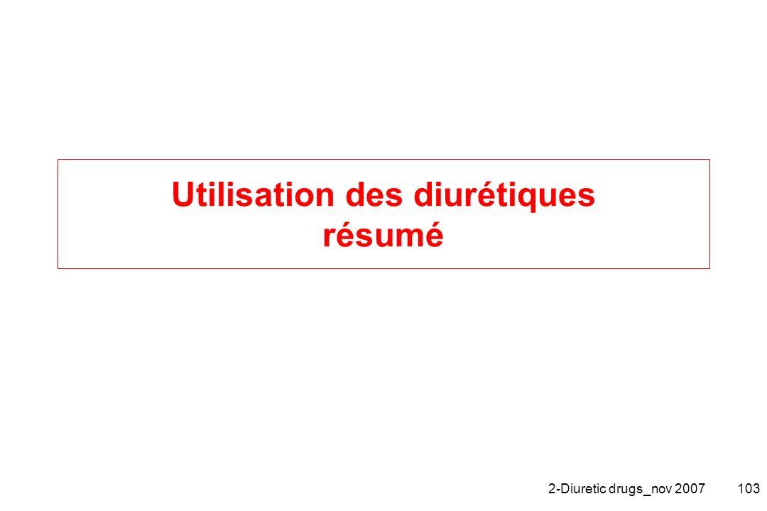 2-Diuretic drugs_nov 2007103 Utilisation des diurétiques résumé