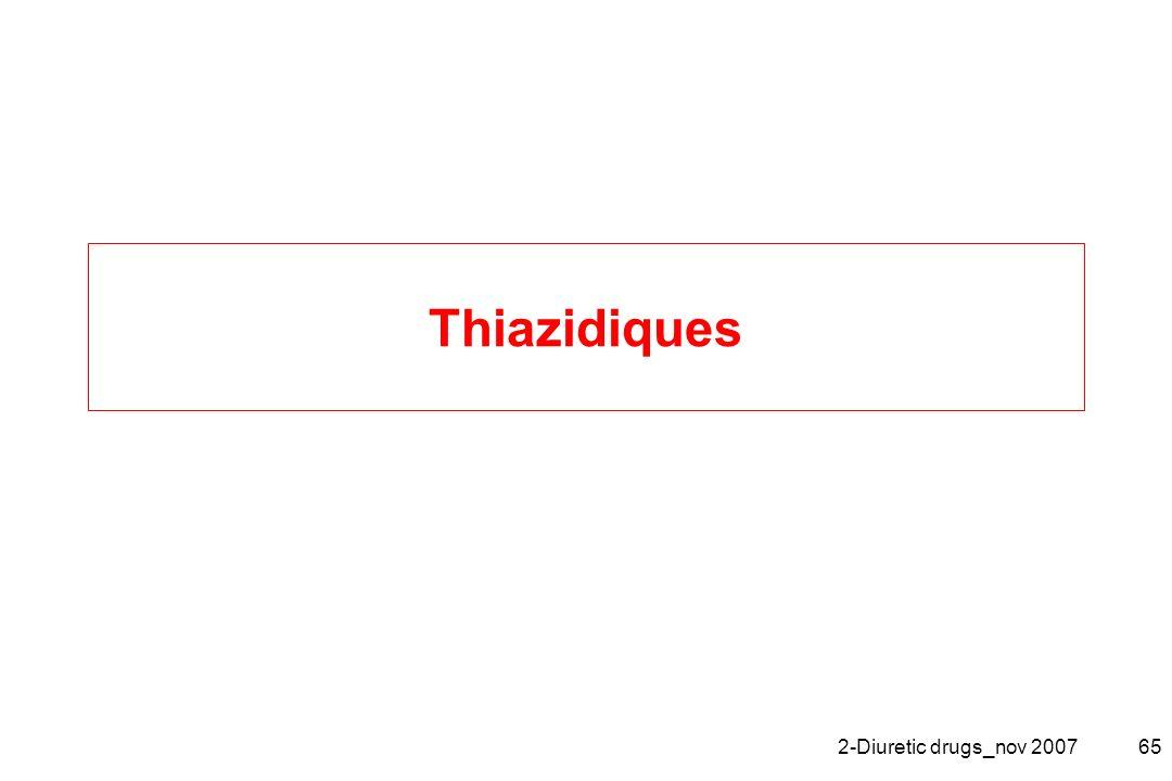 2-Diuretic drugs_nov 200765 Thiazidiques