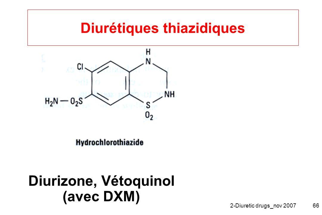 2-Diuretic drugs_nov 200766 Diurétiques thiazidiques Diurizone, Vétoquinol (avec DXM)