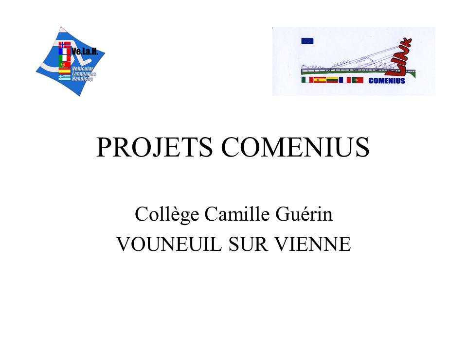 PROJETS COMENIUS Collège Camille Guérin VOUNEUIL SUR VIENNE