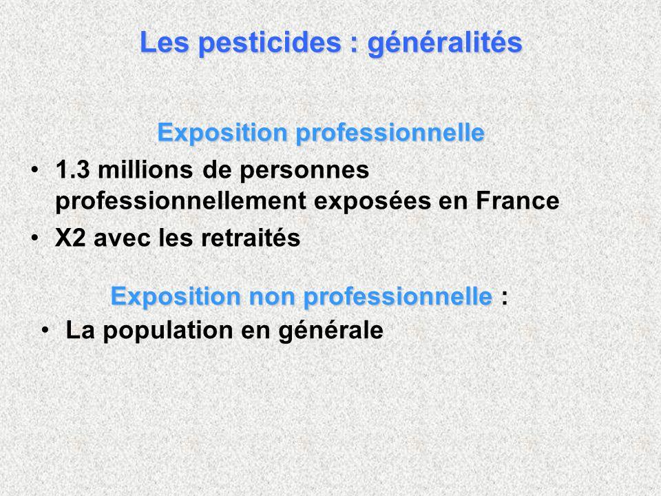 Exposition professionnelle 1.3 millions de personnes professionnellement exposées en France X2 avec les retraités Exposition non professionnelle Expos