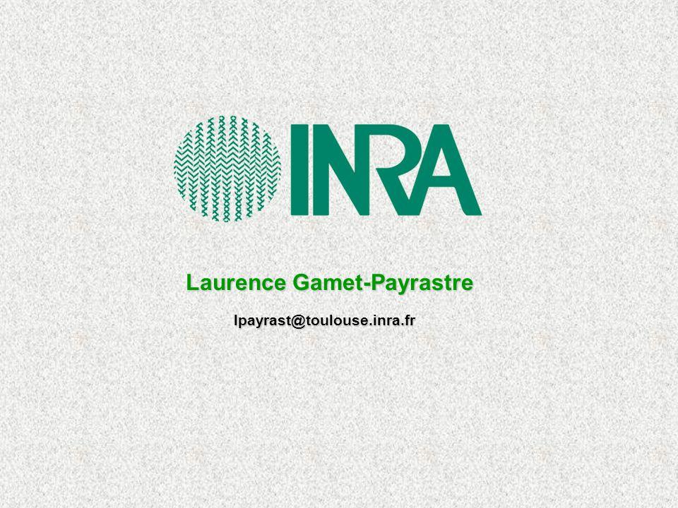 Laurence Gamet-Payrastre lpayrast@toulouse.inra.fr
