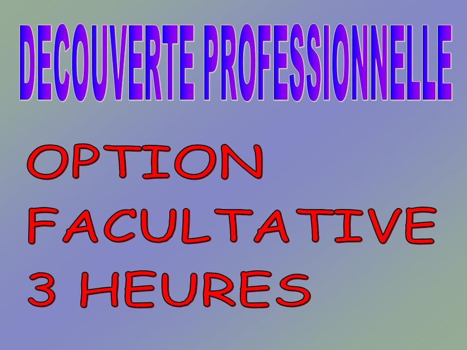 INFORMATIONS SUPPLEMENTAIRES : CLARIFICATION COMPARAISON ENTRE OPTION 3 HEURES ET MODULE 6 HEURES