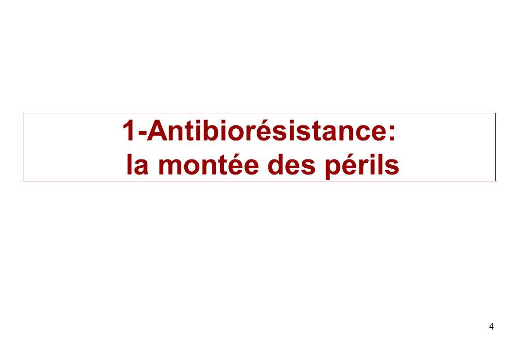 Problème potentiel de santé publique lié à lantibiothérapie des germes zoonotiques Emergence de résistance vis-à-vis des traitements de première intention pour les infections intestinales.