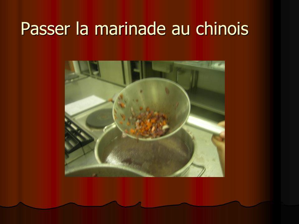 Passer la marinade au chinois