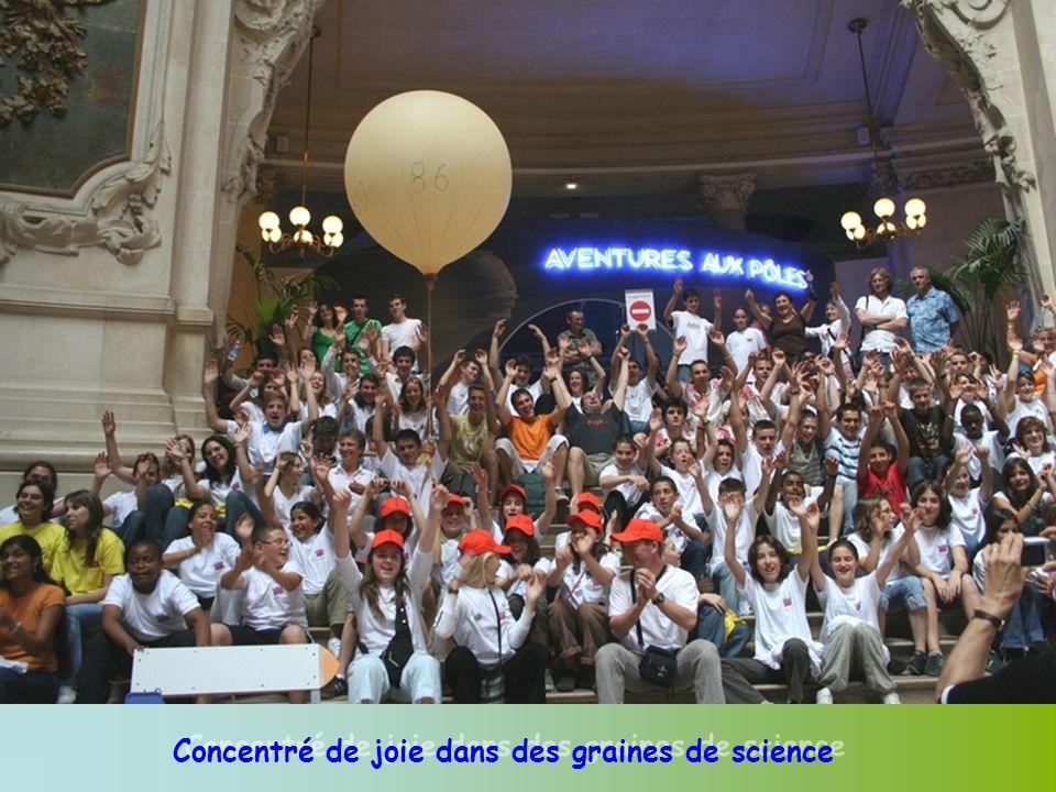 Concentré de joie dans des graines de science
