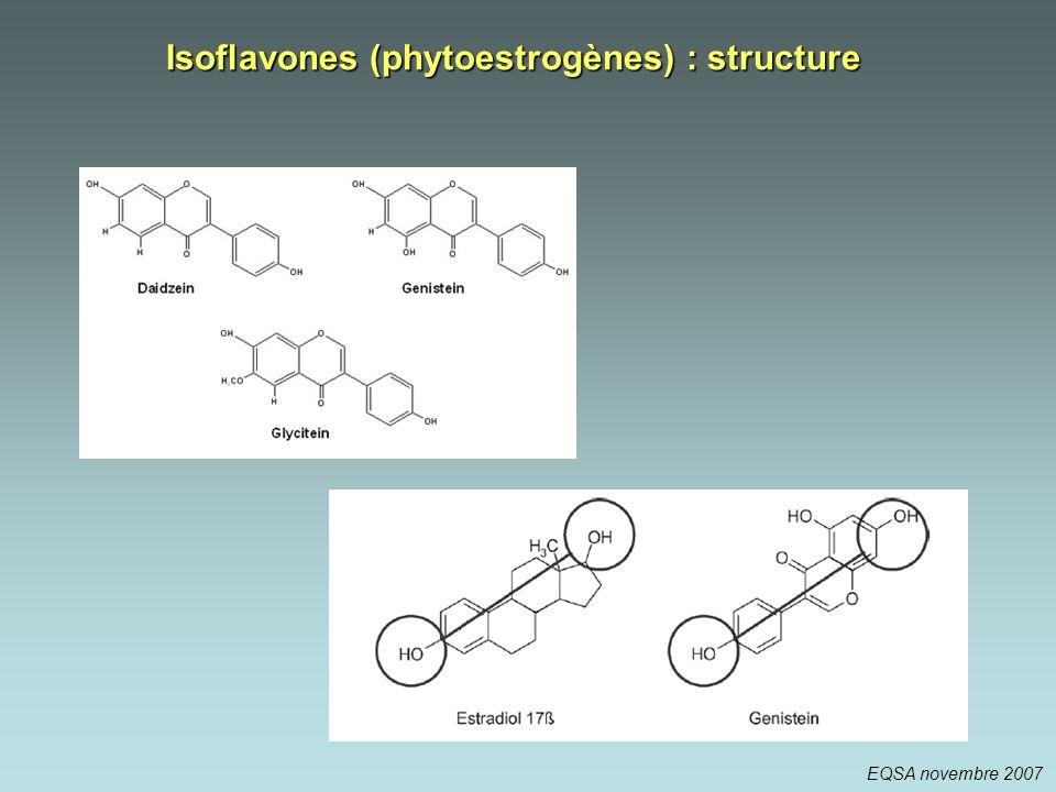 Isoflavones (phytoestrogènes) : structure EQSA novembre 2007