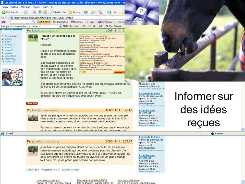 Informer sur des idées reçues Partie II: Contenu du site: les articles