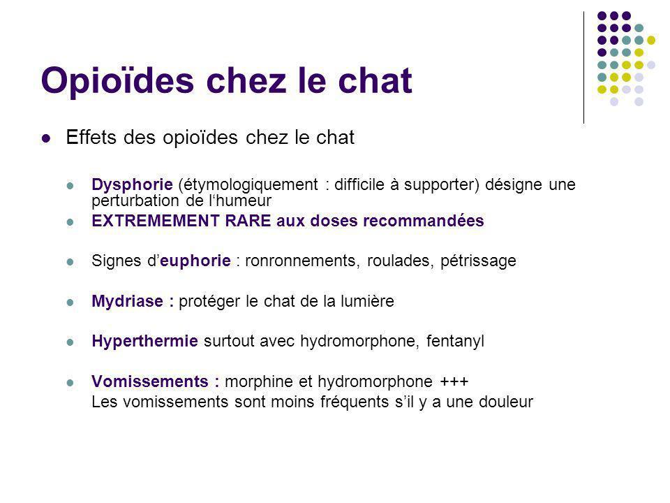 Opioïdes chez le chat Effets des opioïdes chez le chat Dysphorie (étymologiquement : difficile à supporter) désigne une perturbation de lhumeur EXTREM