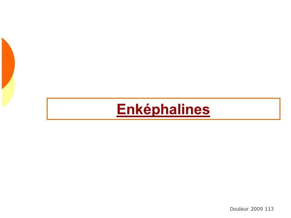 Douleur 2009 113 Enképhalines