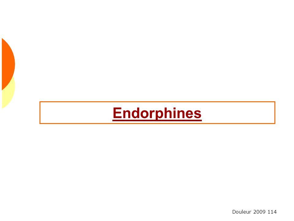 Douleur 2009 114 Endorphines