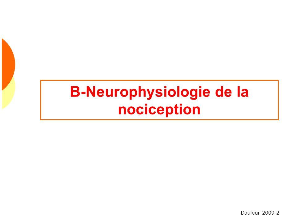 Douleur 2009 2 B-Neurophysiologie de la nociception