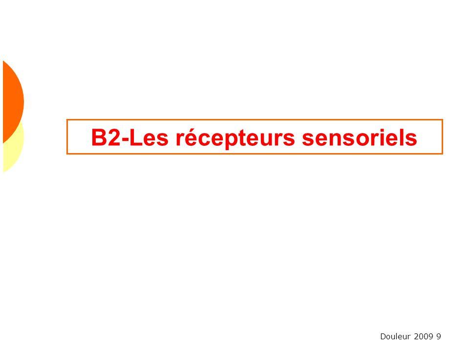 Douleur 2009 9 B2-Les récepteurs sensoriels